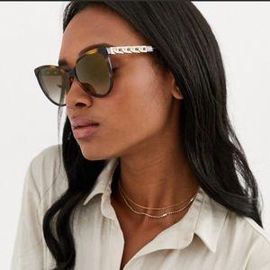 🌷NWT MARC JACOBS Tortoise Gold Cateye Sunglasses